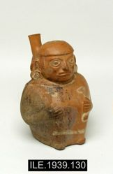Stirrup Vessel in the Shape of a Seated Male Figure