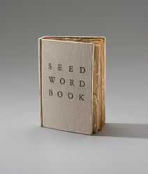 SEED WORD BOOK (seeds sprouted in cut dictionary)