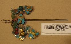 Kingfisher feather ornament