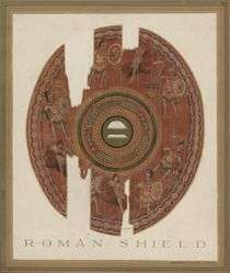 Wooden Shield with the Battle of the Greeks and the Amazons