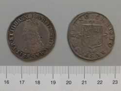 Halfcrown of Charles II, King of England and Scotland from London