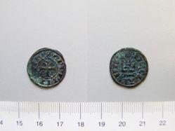 1 Denier of Charles I or II from Clarentza