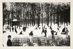Enfants Dans la Premiere Neige, Jardin de Luxembourg