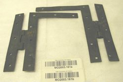 Pair of H L-shaped hinges