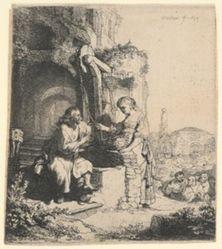 Christ and the Woman of Samaria Among Ruins