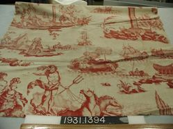"""Length of printed cotton, """"Neptune ou l'Empire des Mers"""""""