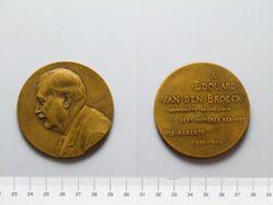 Bronze Medal from Belgium of Edward van den Broeck, 1820-1904