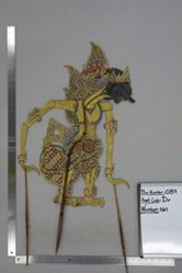 Shadow Puppet (Wayang Kulit) of Duryudana, from the set Kyai Drajat
