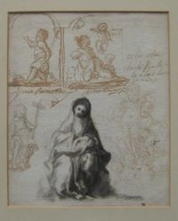 Sheet of Studies including the Madonna and Child