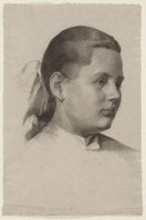 Untitled (head of a young girl, 3/4 profile)