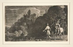 Landscape with Two Men and a Horse