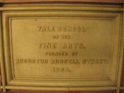"""Yale School of Fine Arts""  plaque from Street Hall"