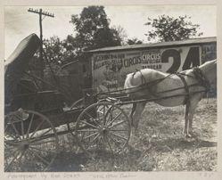 Horse Wagon and Circus Poster