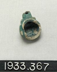 Green-glazed Parthian lamp with knobs