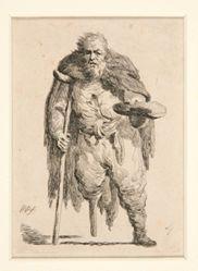 """Beggar - No. 4 of """"Recueil de 19 planches de figures dessinees...par M. Plonski"""""""