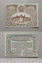 50 Heller from Aistersheim, issued 15 June 1920, redeemable 31 May 1921, Notgeld