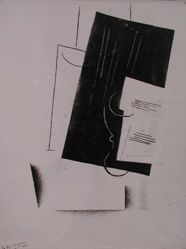 "Photograph of Georges Braque's ""Black and White Collage"" [YUAG 1949.138]-- from Katherine S. Dreier's private collection"