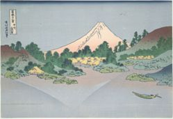 Reflection of Fuji in Lake Misaka in Kai Province, from the series Thirty-six Views of Mount Fuji