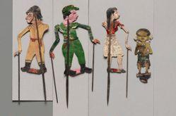 """Shadow Puppet (Wayang Kulit) of a """"Modern"""" Young Chinese Woman or Gadis Cina Modern, from set Wayang Perjuangan or Wayang Revolusi"""