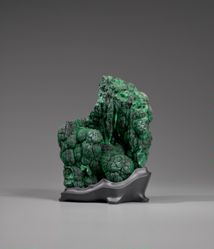 Scholar's Rock in the Shape of a Verdant, Forested Mountain