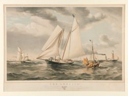 "The ""America"" winning the Match at Coves, for the Club Cup Open to Yachts of all Classes and Nations, August 22nd, 1851"