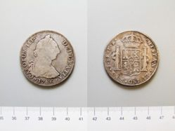 8 Reales of Charles III, King of Spain from Potosi, Bolivia