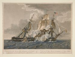 Engagement Between the American Frigate the Constitution and the Guerrière