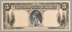 5 Dollar Silver Certificate Composite Essay of the Excelsior Bank Note Company from the United States