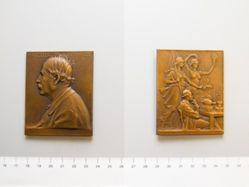 Bronze Plaquette from France of Marcelin Berthelot