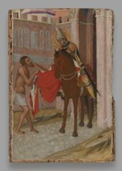 Saint Martin of Tours Dividing His Cloak with a Beggar