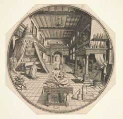 Heinrich Khunrath, Alchemist of Leipzig, In His Library