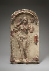 Relief of Aphrodite in a niche