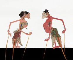 Shadow Puppet (Wayang Kulit) of Inyo, from the consecrated set Kyai Nugroho