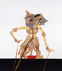 Shadow Puppet (Wayang Kulit) of Gendoro, from the consecrated set Kyai Nugroho