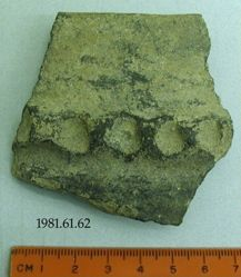 Body fragment with part of handle