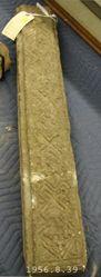 Coptic stone lintel with geometric design.