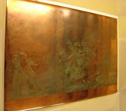 Copper plate for Battle of Bunker's Hill