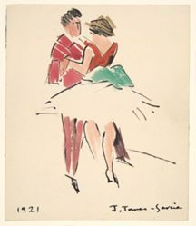 Artists' Ball:Two Dancers
