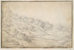 Hilly landscape with farm