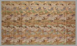 Robe for a Buddhist Monk with Cranes and Clouds (Kesa)