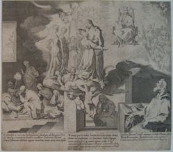 Plate 11, from the series, Life and Miracles of Saint Catherine of Siena