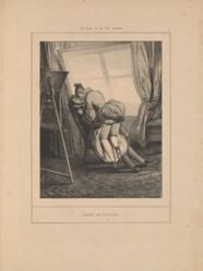 Leçon de paysage, from the series Scènes de la vie intime