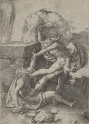 Cain Killing Abel, from the History of Adam and Eve