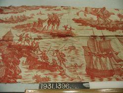 """Length of printed linen, """"The Deserter"""""""