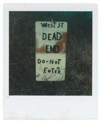 "Untitled [Sign: ""West St. Dead End"", Old Saybrook, Connecticut]"