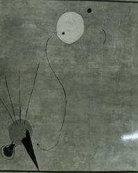 "Photogrpah of Joan Miro's ""Blue Painting,"" 1926, oil [MoMA, subsequently sold] -- from Katherine S. Dreier's private collection"