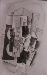 "Photograph of George Braque's ""Music"" [Phillips Collection]-- from Katherine S. Dreier's private collection"