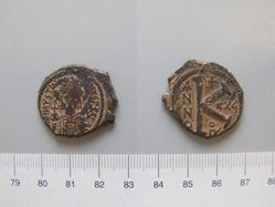1/2 Follis (20 Nummi) of Justinian I, Emperor of Byzantium from Antioch