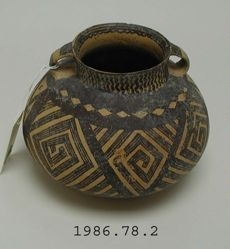 Painted Buff Pottery Storage Jar