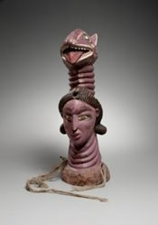Headdress in the Form of an Indian Woman's Head Surmounted by an Animal Head